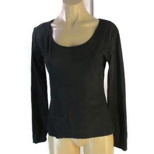 Anne Fontaine Black Textured Knit Top 3 US S M Swi